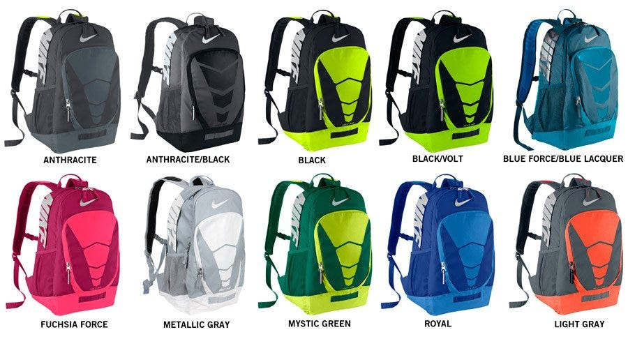 nike vapor backpack gold