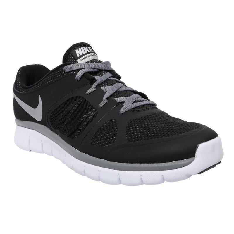 Nike Flex Run Boys Running Shoes - Black