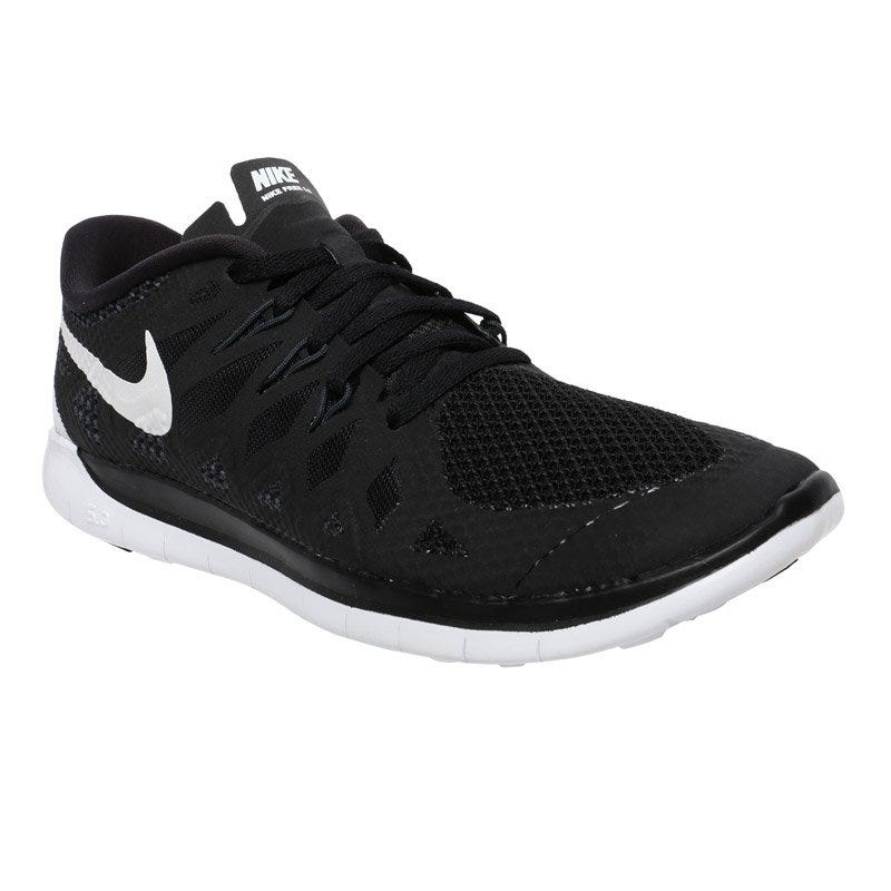 Nike Free 5.0 Boy's Running Shoes - Black/White