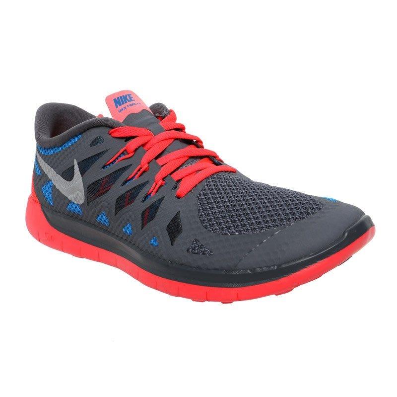 Nike Free 5.0 Boys Running Shoes - Dark GreyRed