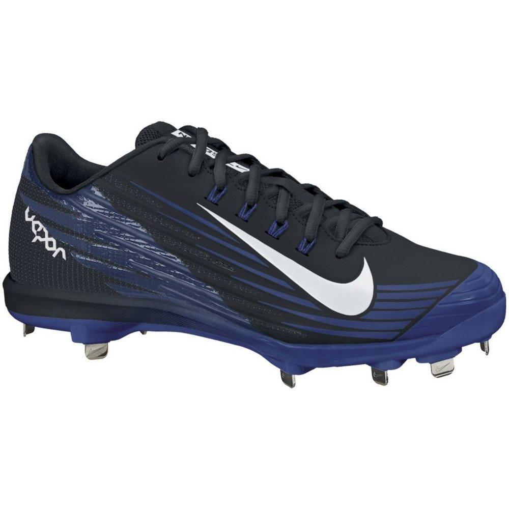 Nike Black/Blue Low Baseball Cleats Lunar Vapor Pro - Mens Size 11.5