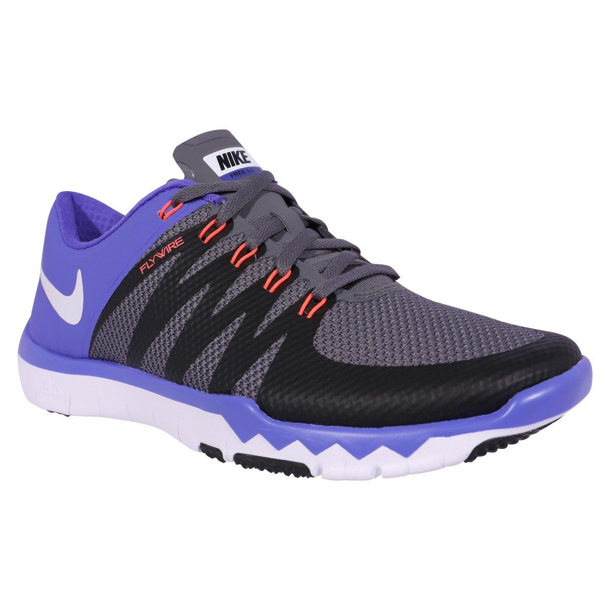 Nike Free 5.0 Trainer V6 Mens Training Shoes - Dark GrayBlackPersian Violet