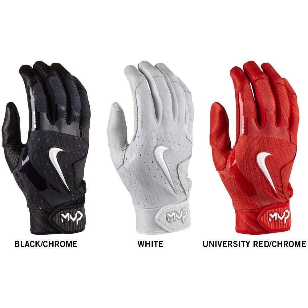 Black batting gloves - Nike 2017 Mvp Elite Adult Batting Gloves