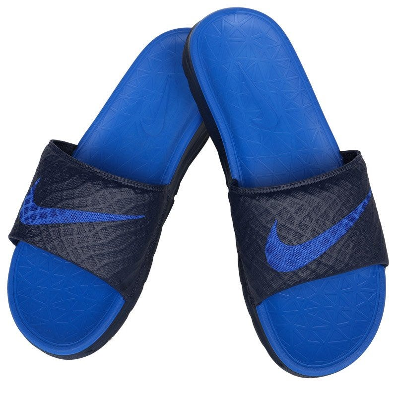 Nike Benassi Solarsoft 2 Slide Mens Sandals - MidnightLyon Blue