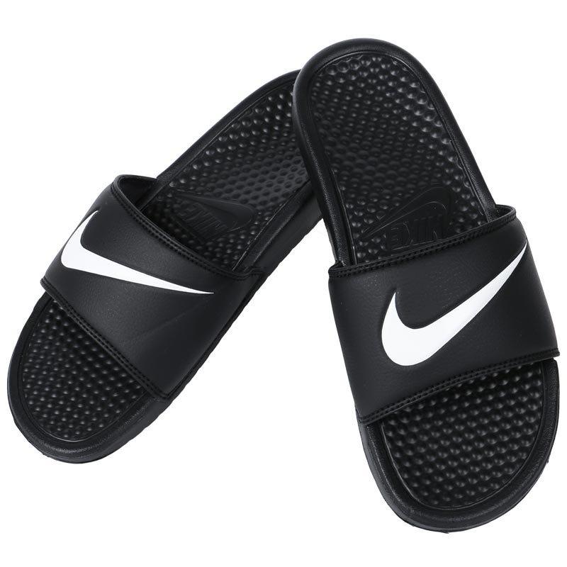 Nike Benassi Swoosh Sandals - Black