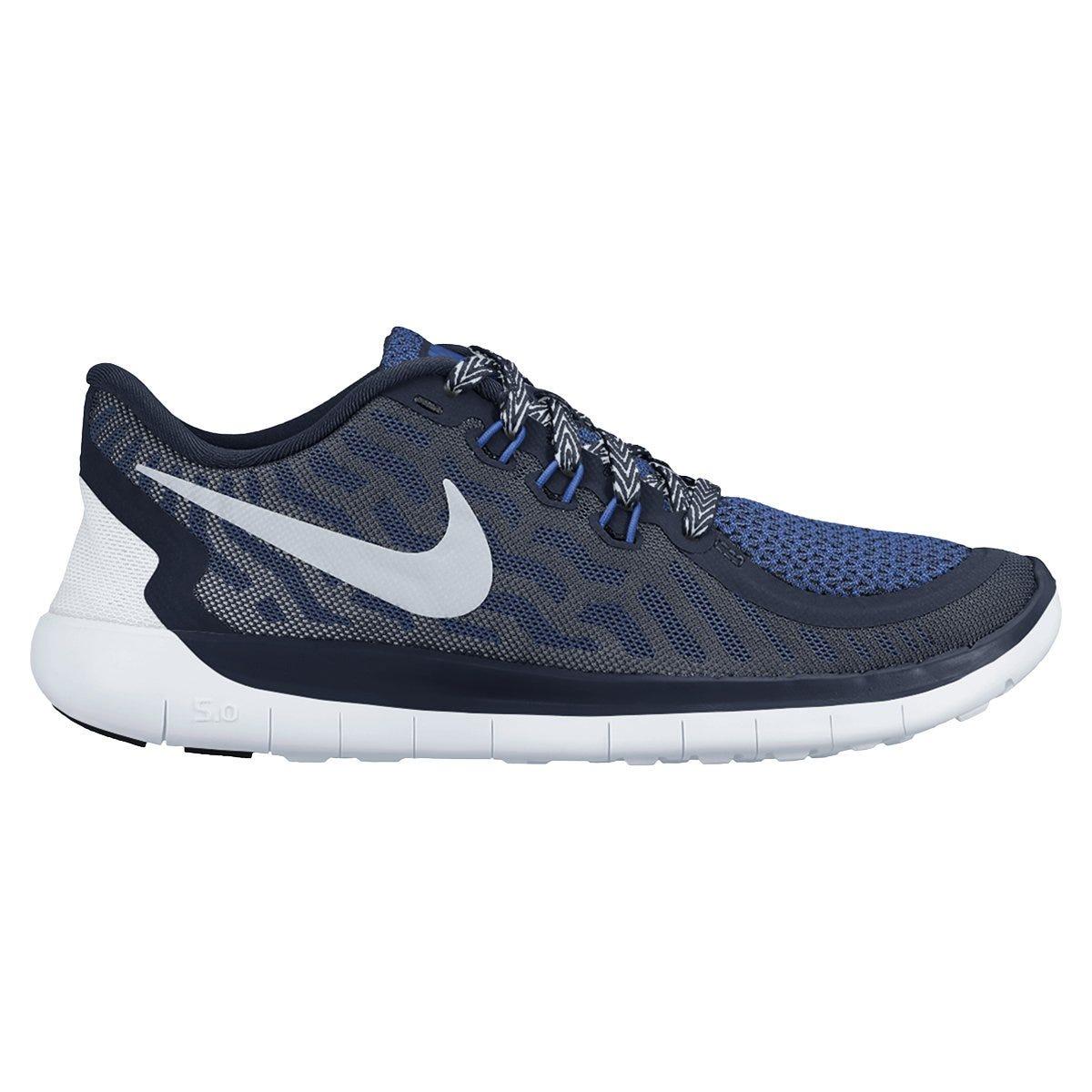 Nike Free 5.0 Boy's Running Shoe - Obsidian/Wolf Grey/Silver