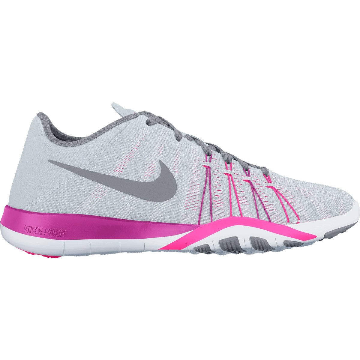 Nike Free TR 6 Women's Training Shoes - Pure Platinum/Stealth/Pink Bla