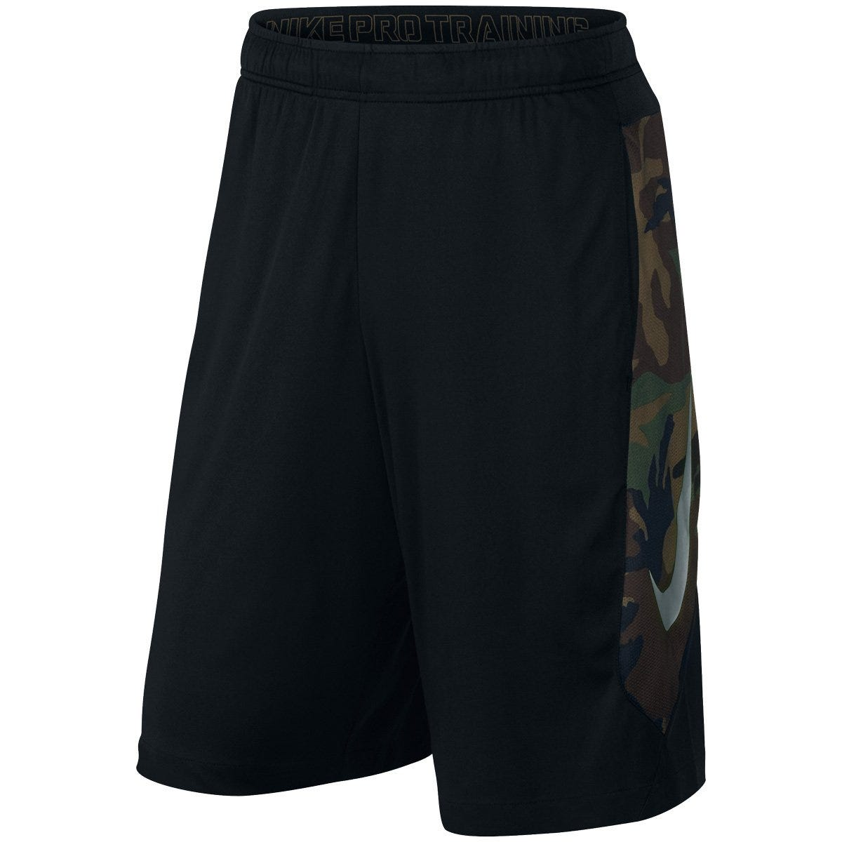 Mens XL Hyperspeed Knit Camo Sr. Training Shorts by Nike; White/Black