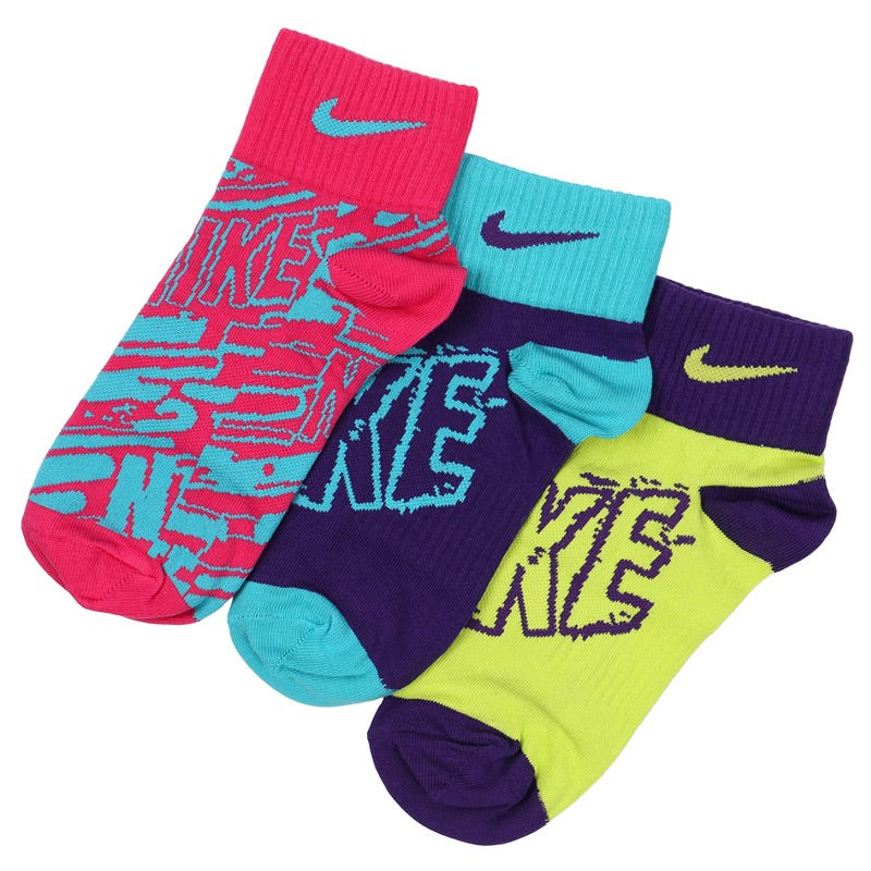 Nike Girls Graphic Crew Socks - 3 Pack