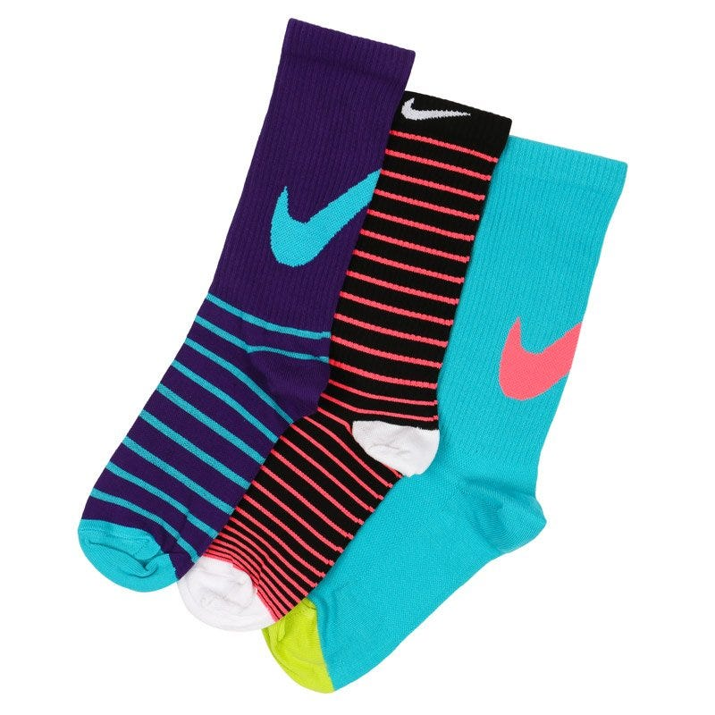 Nike Lightweight Girls Crew Socks - 3 Pack
