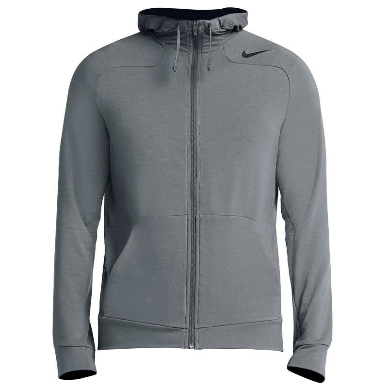 Dri-Fit Touch Fleece Sr. Full-Zip Hoody by Nike; Mens X-Large in Gray