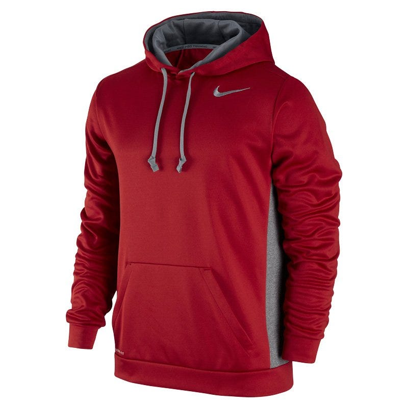 Mens KO 3.0 Sr. Pullover Hoody by Nike; Size X-Large in Dark Gray