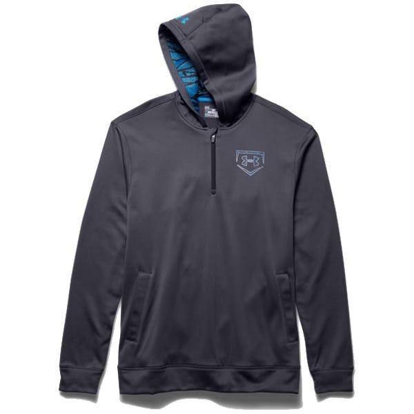 14 Zip Fleece by Under Armour; Baseball Fleece - Mens X-Large Black