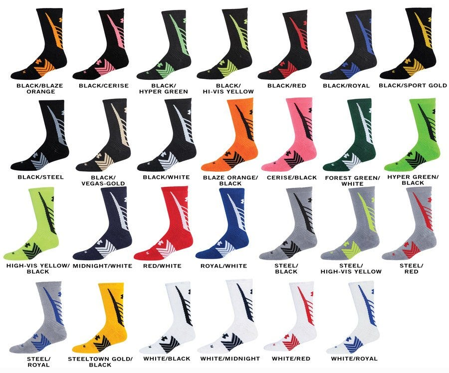 Under Armour Undeniable Youth Crew Socks