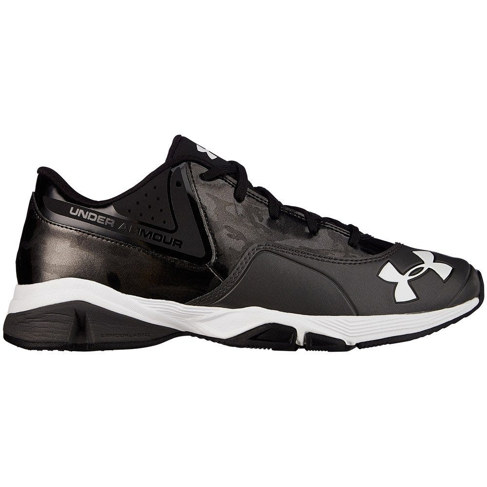 Men's Baseball Trainers by Under Armour - Black & Charcoal Grey Ignite