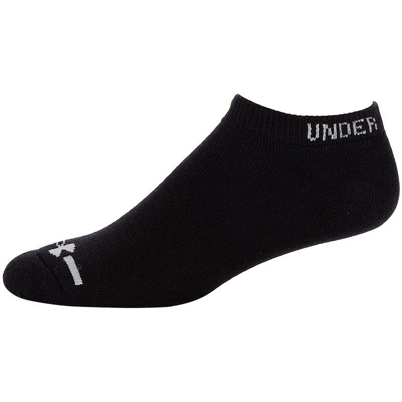 Under Armour HeatGear Charged Cotton Youth No Show Sock - 6 Pairs