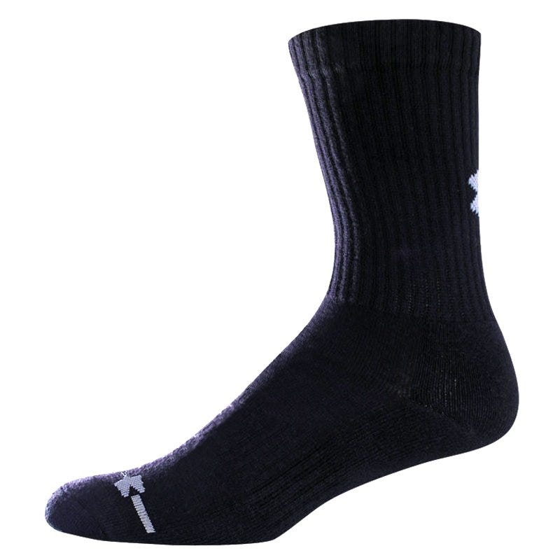 Under Armour HeatGear Charged Cotton Adult Crew Sock - 6 Pairs