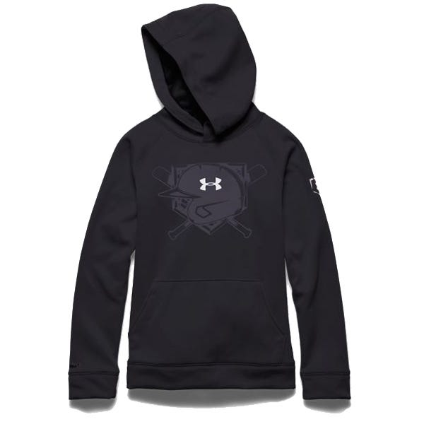 XL Baseball Under Armout Storm 9 Strong Sweatshirt; Boys Black
