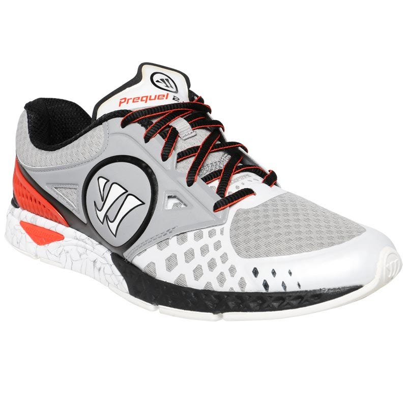 Men's Baseball Trainer Shoes by Warrior - White & Grey Prequel 2