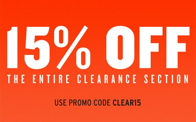 15% Off Entire Baseball and Softball Clearance Section