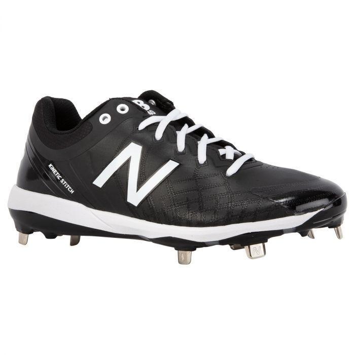 New Balance 4040v5 Men's Low Metal Baseball Cleats - Black