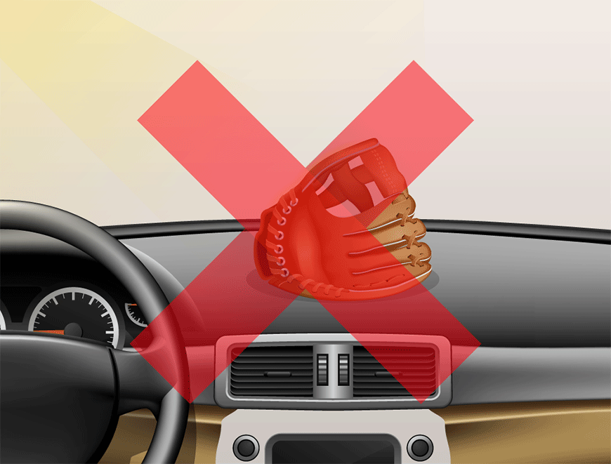 Don't leave your glove inside the car