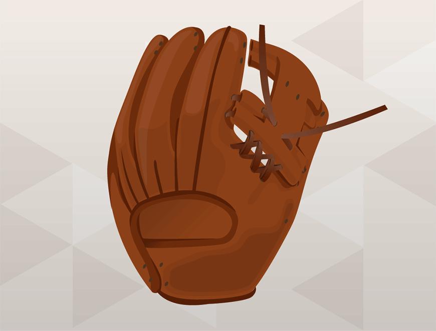 How to Replace Baseball Glove Web - Finish Bottom