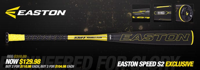Easton Speed S2 Exclusive BBCOR (-3) Adult Baseball Bat
