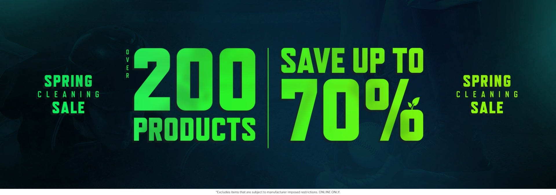 Spring Cleaning Sale - Take advantage of major savings on over 200 products