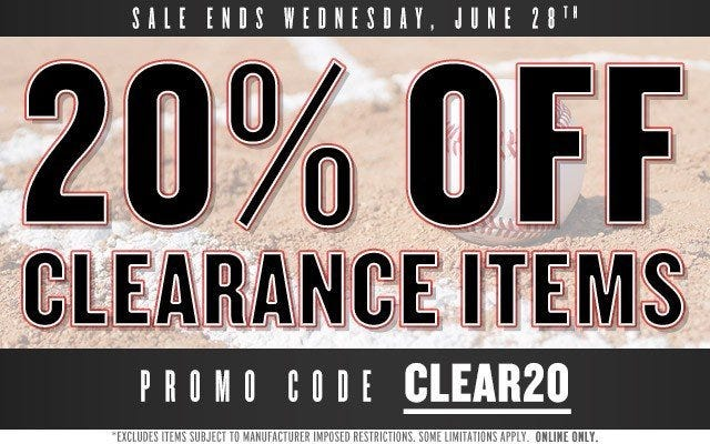 Save 20% On All Clearance Items