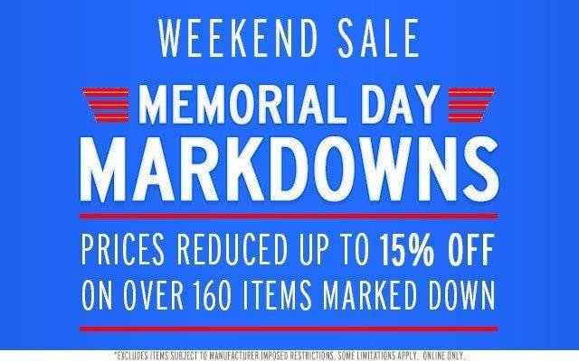 Memorial Day Markdowns