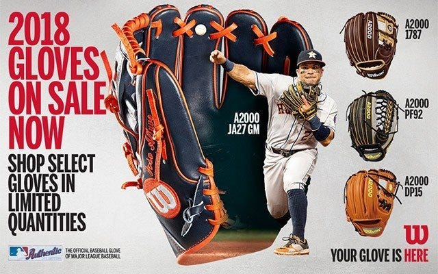 Wilson 2018 Glove Launch