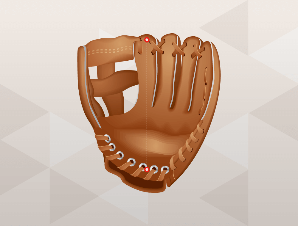 how to measure a baseball glove