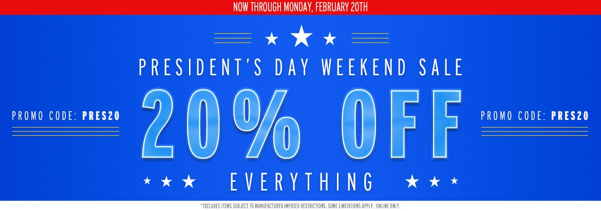 President's Day Weekend Sale