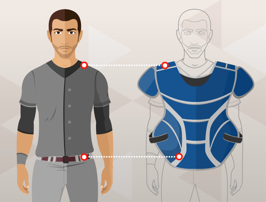 chest protector measurement