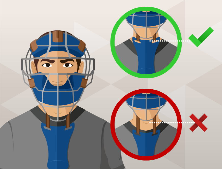 how to wear catcher's mask