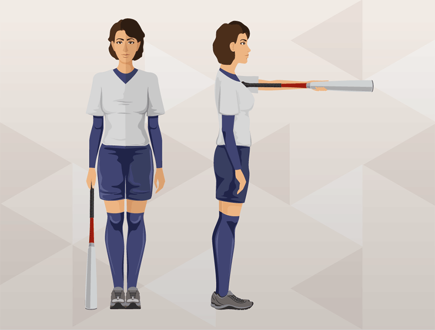 Softball Bat Arm Measurement